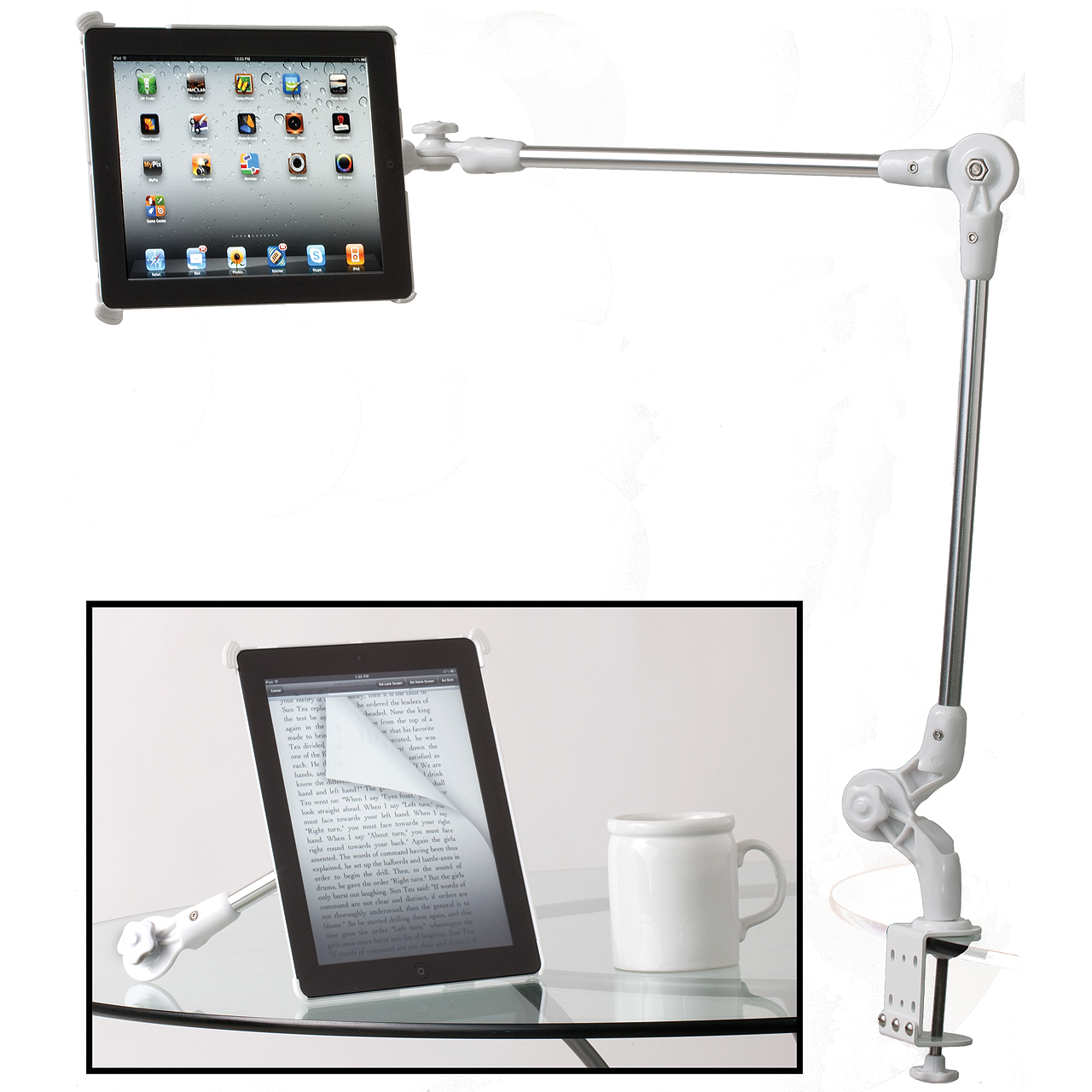 The Spiderarm Stand for iPad! (Video)