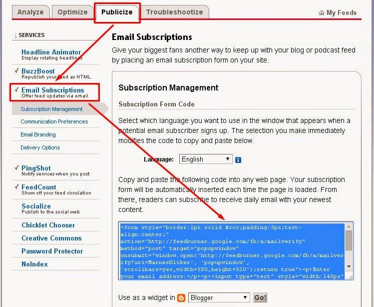 Cara Mudah Memasang Widget RSS Feedburner di Blog