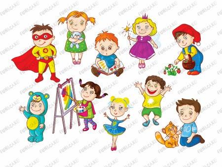 January Clip Art For Kids Vector clipart - children