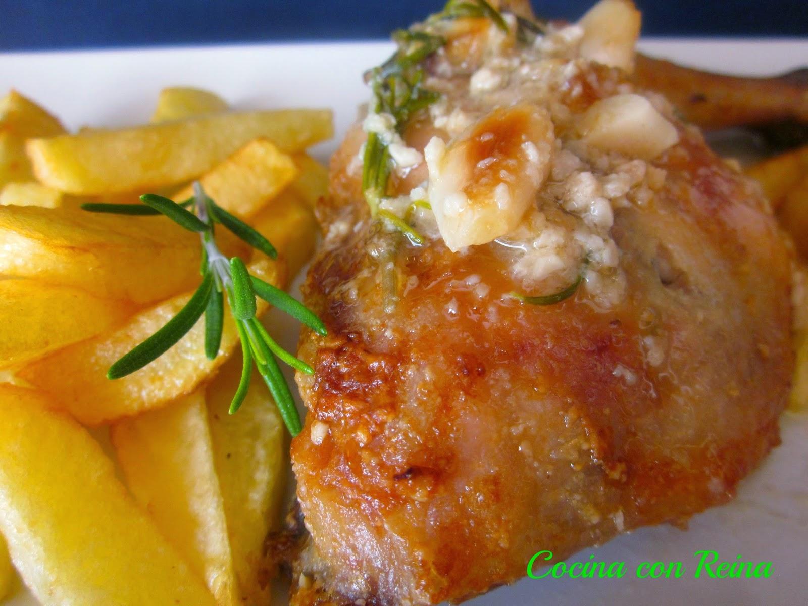Pollo al horno con salsa de almendras cocina con reina - Cocina al horno ...