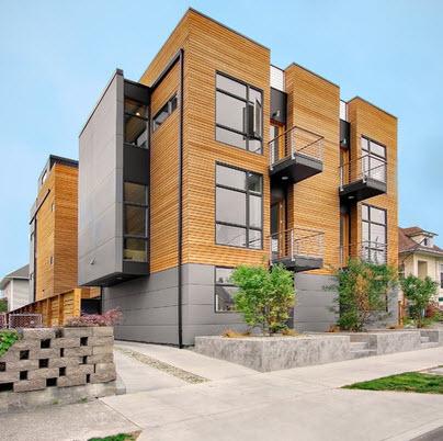 Fachadas de madera de casas modernas fotos construye hogar for Fachadas de pisos modernos