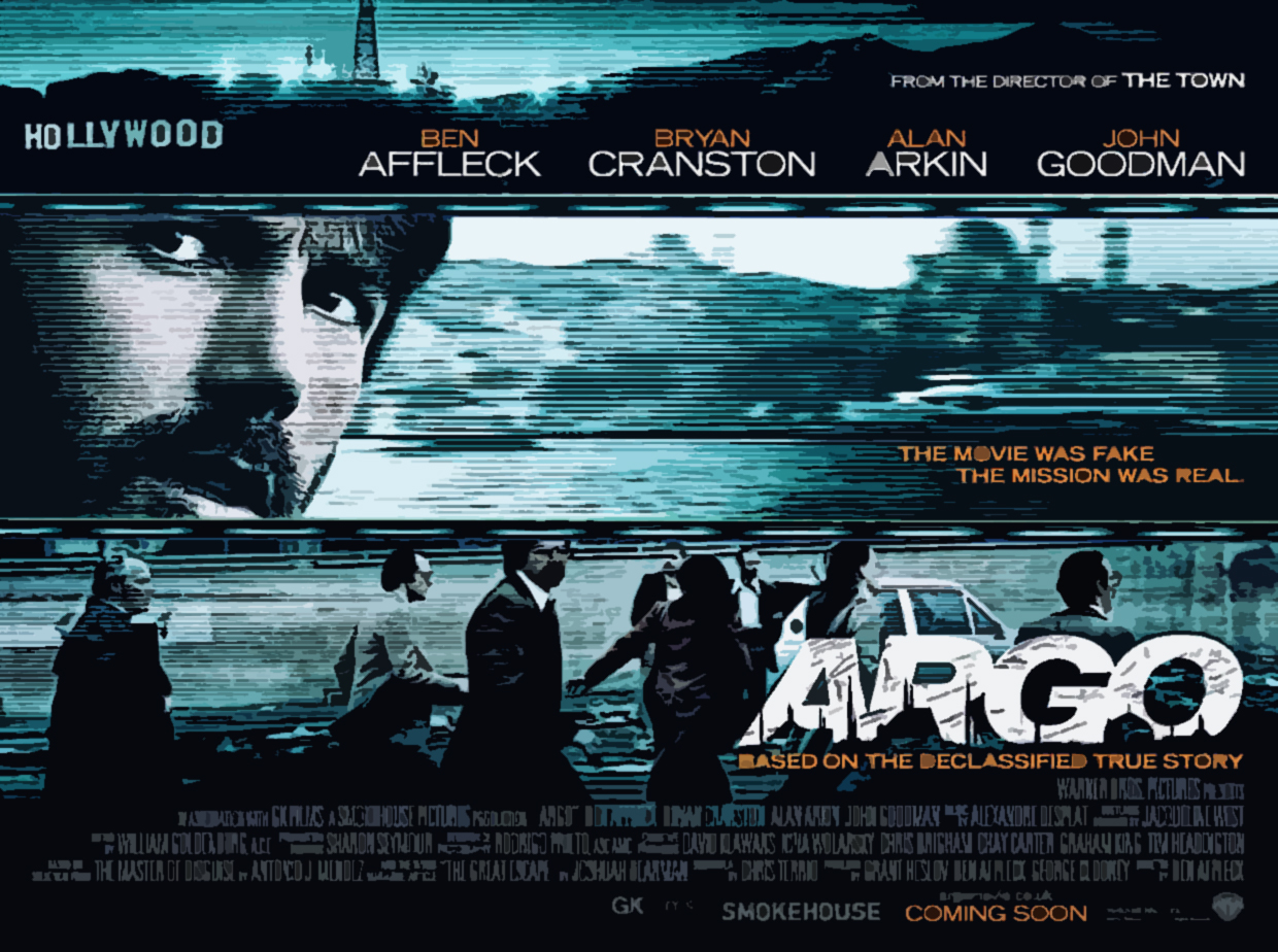 A poster of Ben Affleck's Argo movie published in 2012