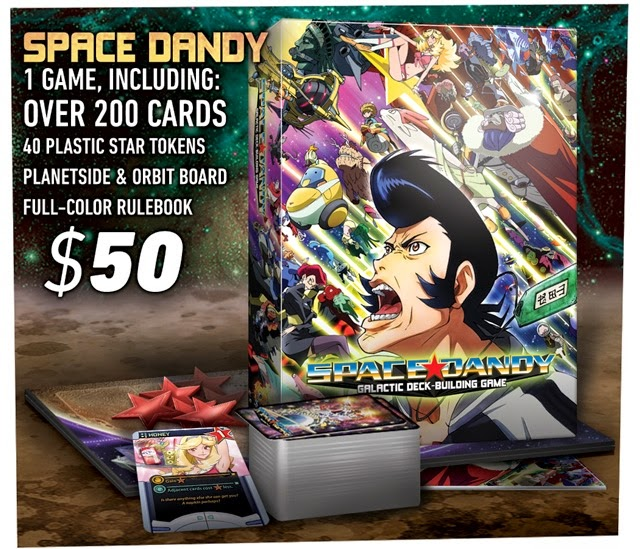Podstawowy zestaw gry karcianej Space Dandy: Galactic Deck-Building Game