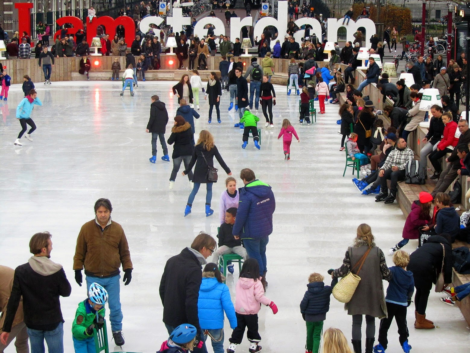 Iamsterdam with ice rink