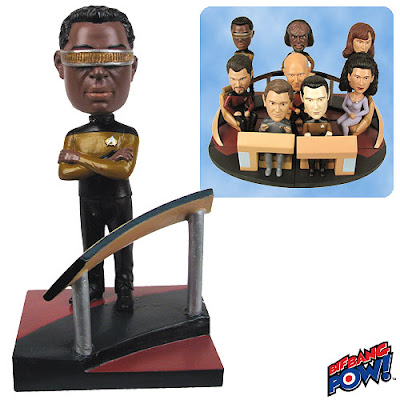 Star Trek: The Next Generation Geordi LaForge Build-a-Bridge Bobble Head by Bif Bang Pow!