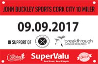 10 mile race in Cork City...Sat 9th Sept 2017