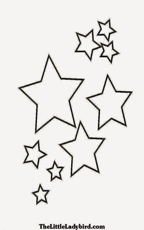 coloring pages shooting star - photo#23