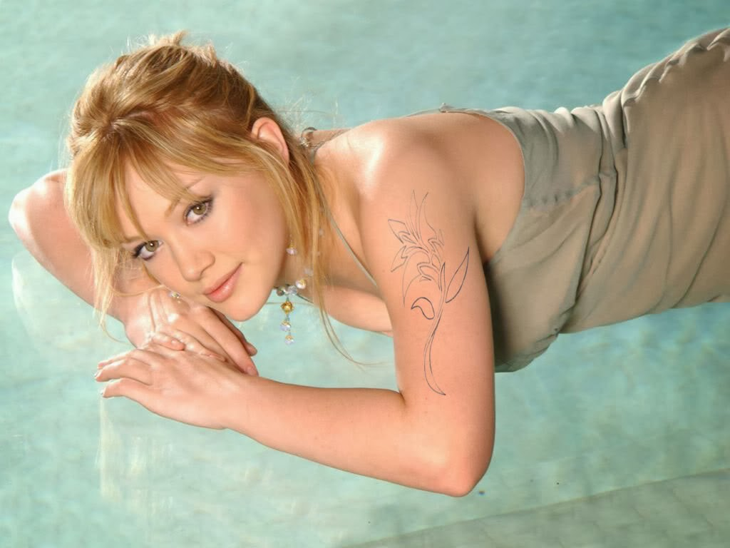 Hilary Duff Tattoos Meaning| List of Hilary Duff Tattoos ... Hilary Duff Mean