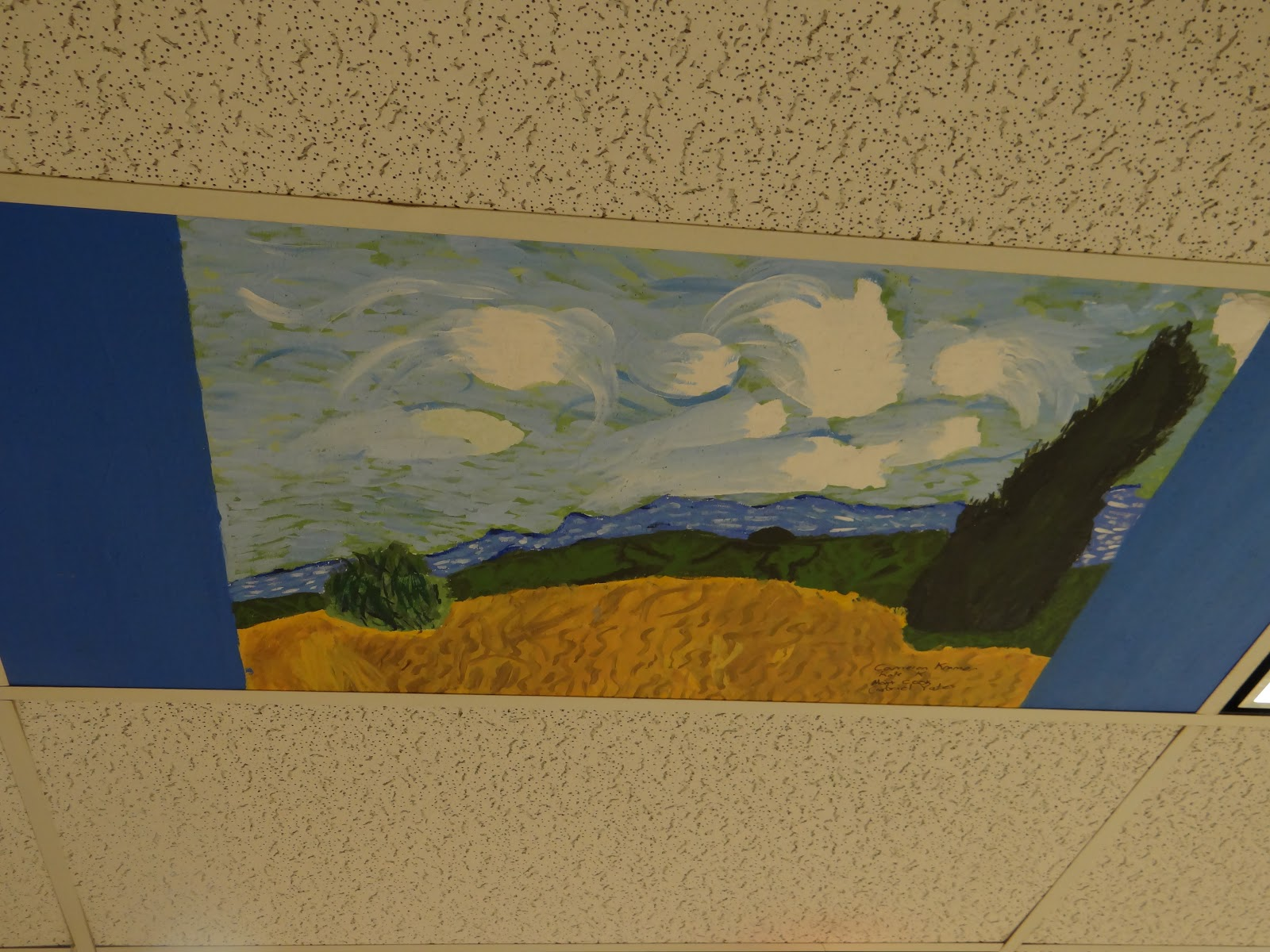 Crusader creations painted ceiling tiles 5th graders have been busy this year painting ceiling tiles we painted tiles around the school and also in the art room here are some examples of the dailygadgetfo Choice Image