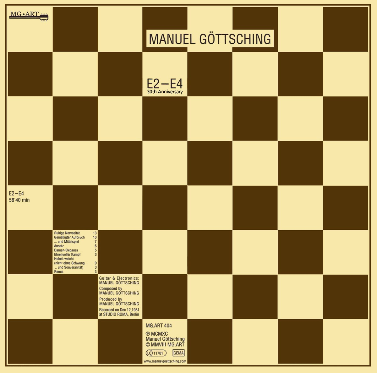 Manuel Göttsching – E2-E4 (1984) / source : MG.ART www.ashra.com
