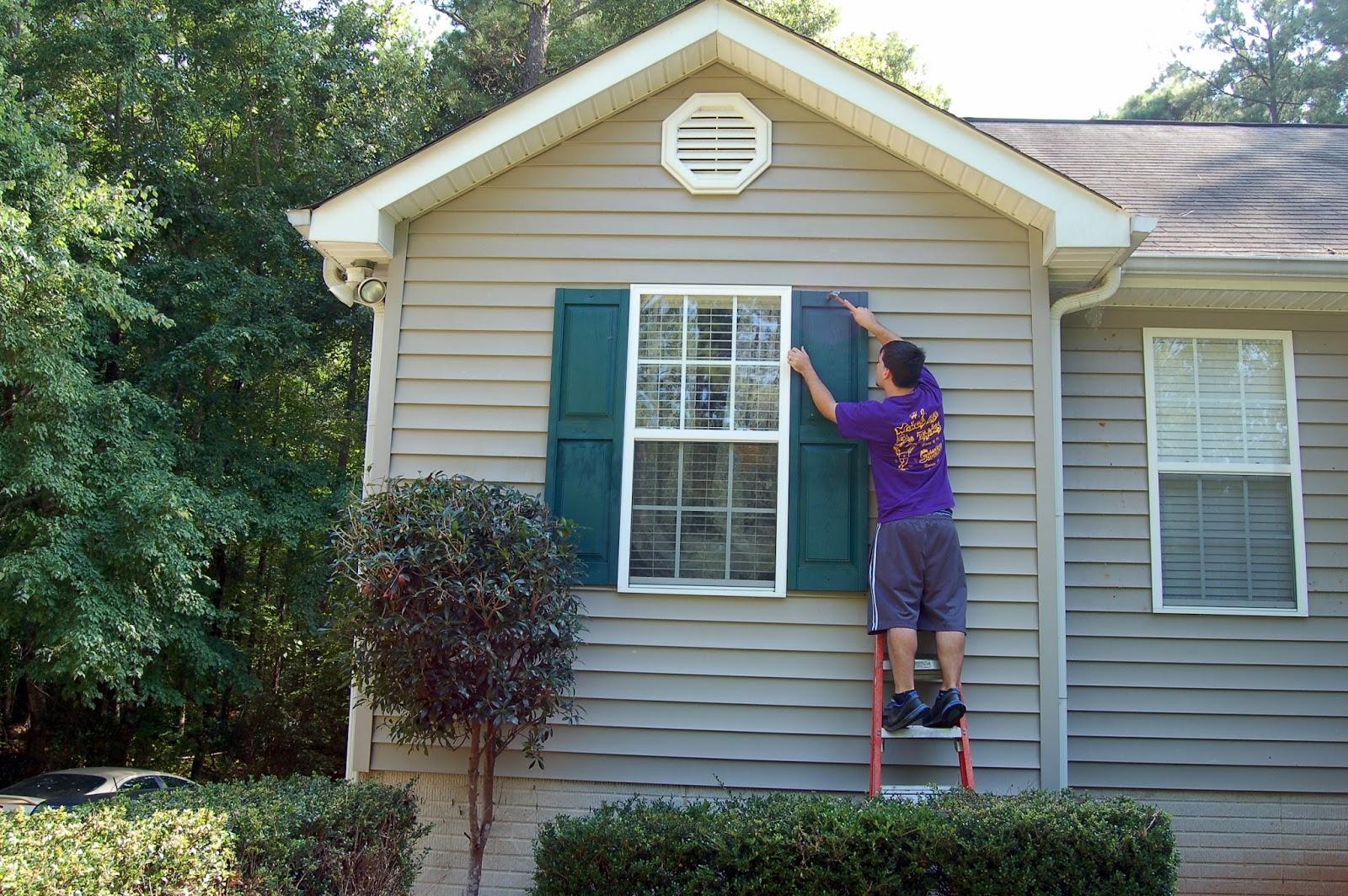 paperlark studio increase curb appeal by spray painting. Black Bedroom Furniture Sets. Home Design Ideas