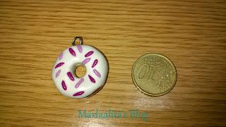 llavero, donut, fimo, arcilla polimerica