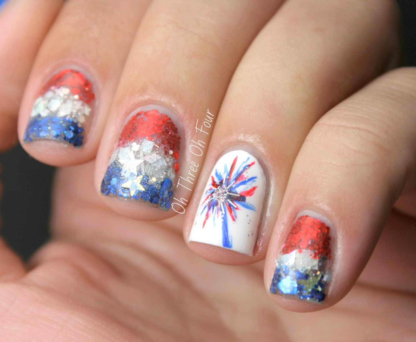 Attractive 4th Of July French Tip Nails Ensign - Nail Art Ideas ...