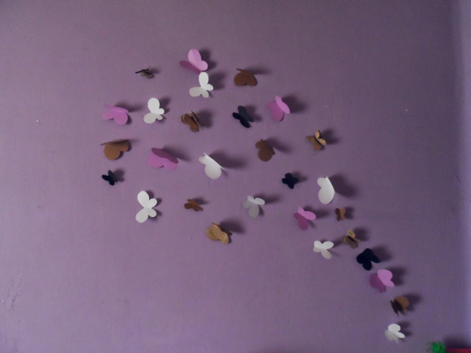 Las cositas de lau mariposas decorativas de pared con - Mariposas en la pared ...