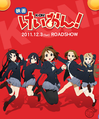 Gekijouban K-ON! anime movie diciembre dicember