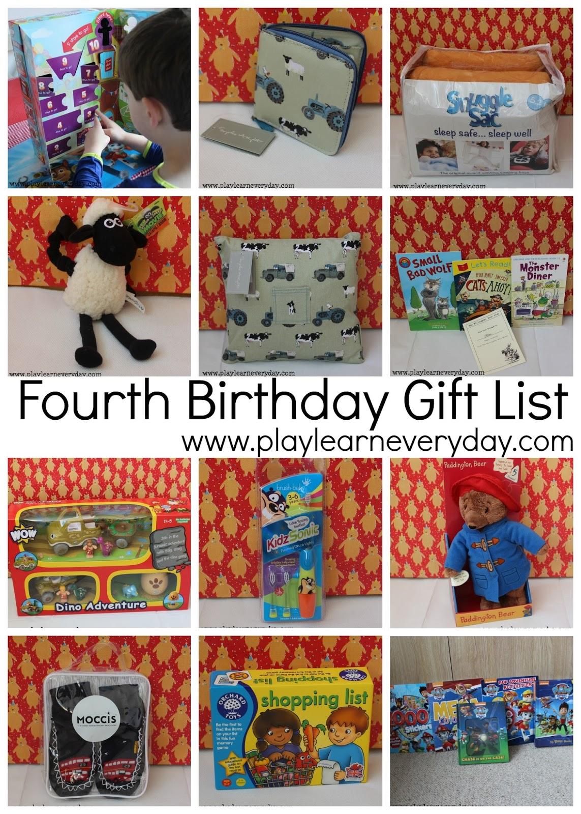 Fourth Birthday Gift List
