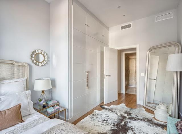 armario vestidor lacado en blanco