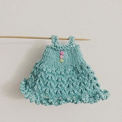 Blythe Knitted Lace Dress Pattern - Tiny Moon