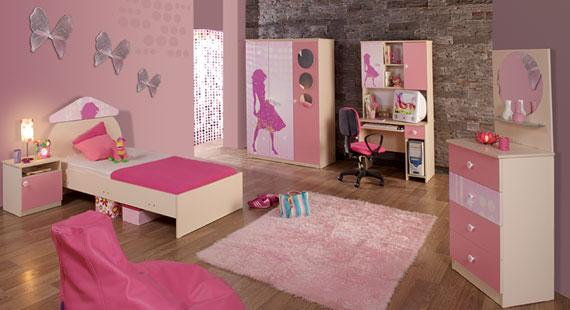 penbe+tatli+genc+odasi+takimi Yeni Tasarım Genç Odası Modelleri