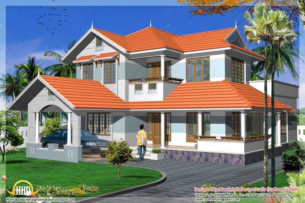 2280 kerala style house plan kerala home design for Kerala homes photo gallery
