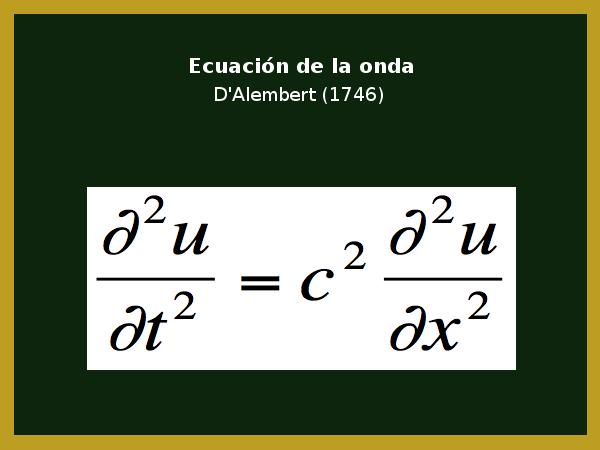 Ecuación de la onda de D'Alembert