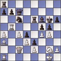 Partida de ajedrez Bordell vs. Polugaievsky 1956, posición después de 26.g4!