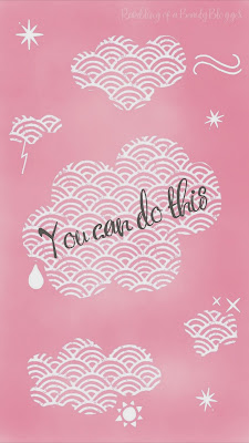 You Can Do This Pink Motivational Positive Phone Wallpaper Clouds