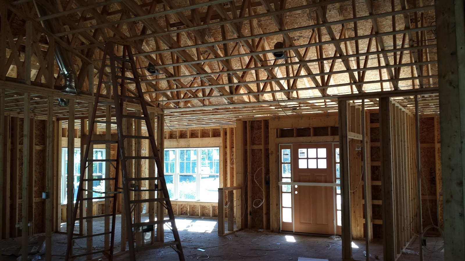 The Impatient Home Builder: Rough Wiring