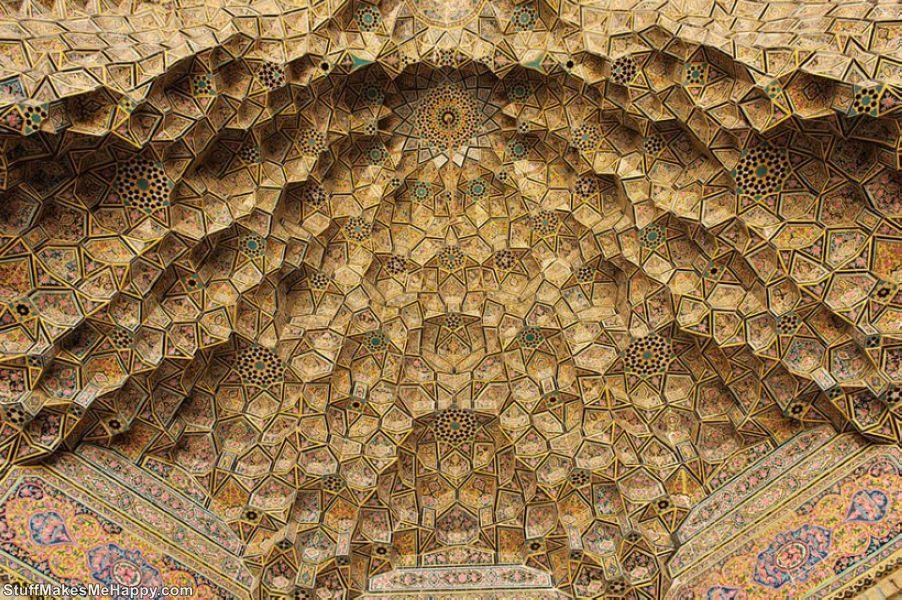 The mosque in Shiraz, Iran