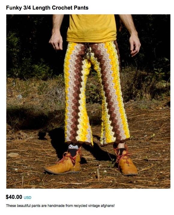 crochet a pair of mans pants