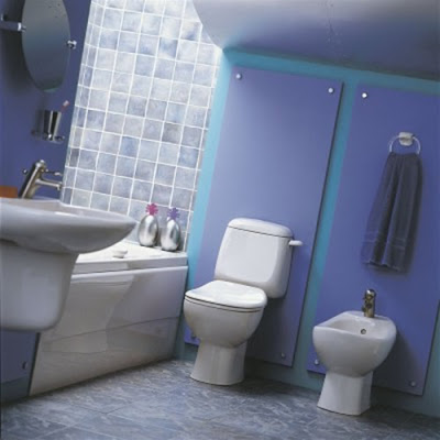 Modern Bathroom Pattern Color