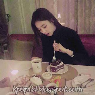 Foto Eunjung T-ara Sedang Makan