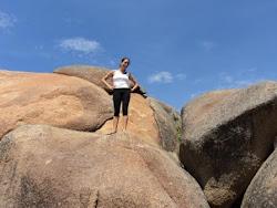 Boulder na Praia do Gravatá em Laguna