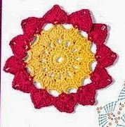 Sol-flor a Crochet