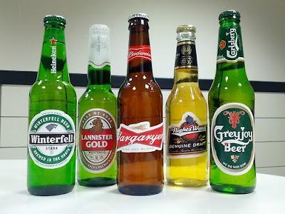 Las cervezas de las casas de poniente - Juego de Tronos en los siete reinos