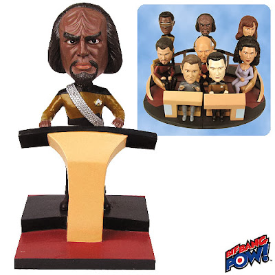 Star Trek: The Next Generation Lieutenant Worf Build-a-Bridge Bobble Head by Bif Bang Pow!