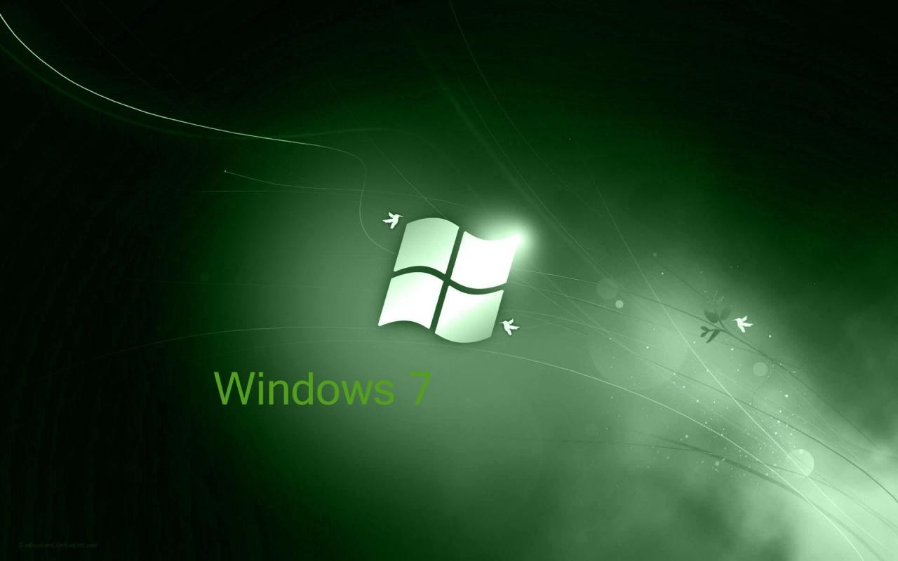 Windows 7 Green Effect Acer Wallpaper