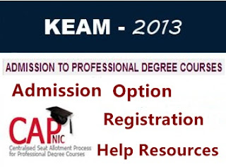 KEAM 2013 Option Registration helping resources