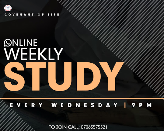 Join our Wednesday & Saturday Online Bible-Study Fellowship.
