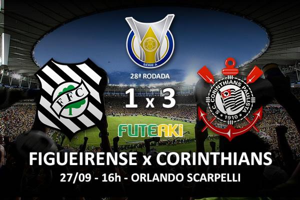 Veja o resumo da partida com os gols e os melhores momentos de Figueirense 1x3 Corinthians pela 28ª rodada do Brasileirão 2015.