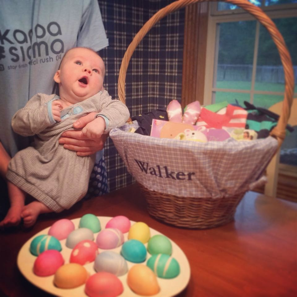 Life as the mrs easter basket blog hop walkers easter basket and can we please just discuss my sweet little guy at easter last year he was just shy of three months old cue the tears at his squishy little sight negle Gallery