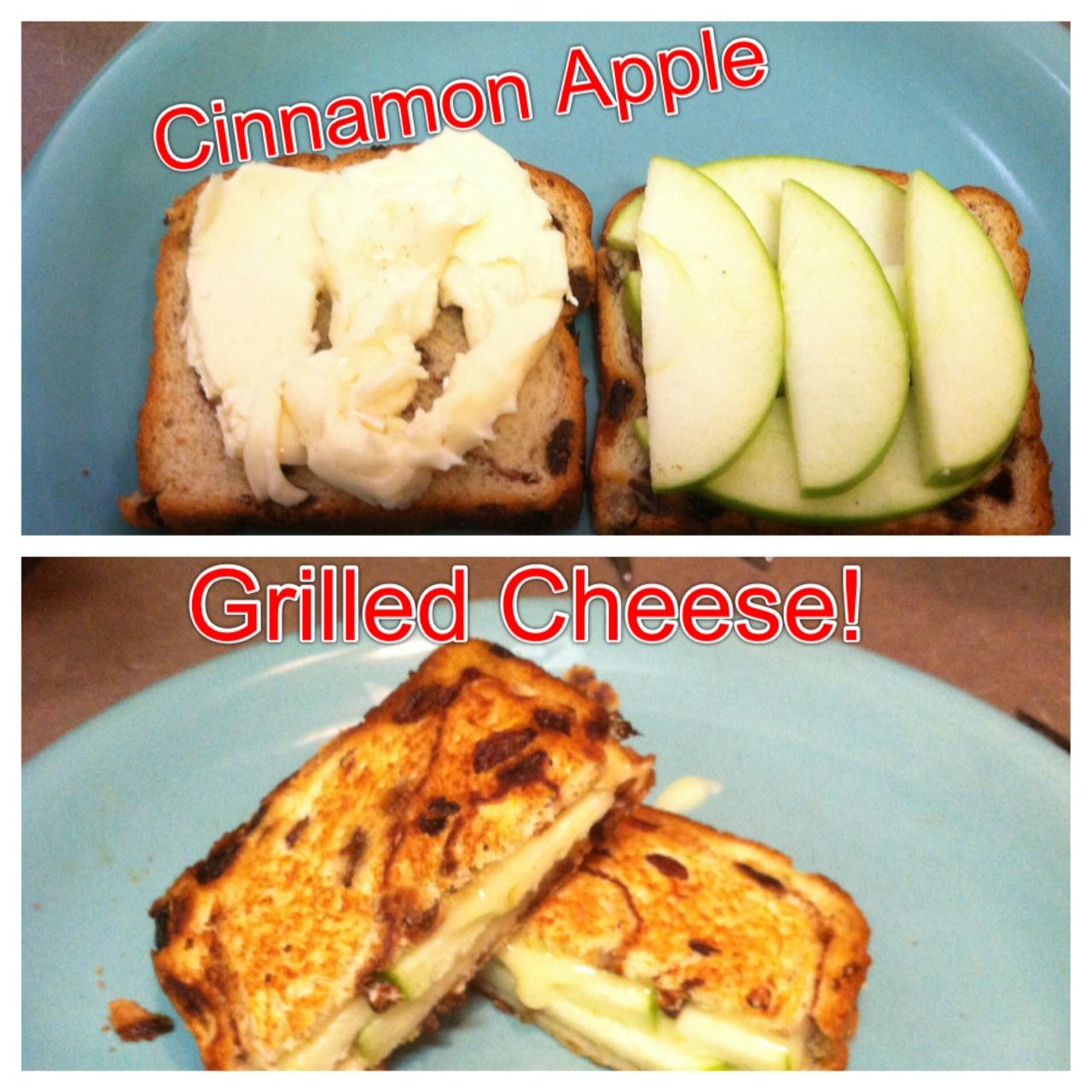 unBearablyGood: Cinnamon Apple Grilled Cheese!