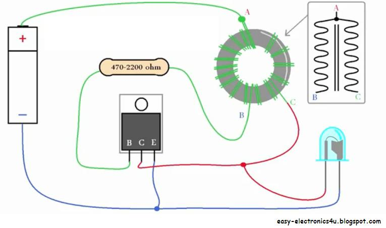 Make A Joule Thief Easy Electronics