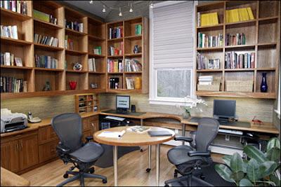 Minimalist Unique Home Office Design Decorating