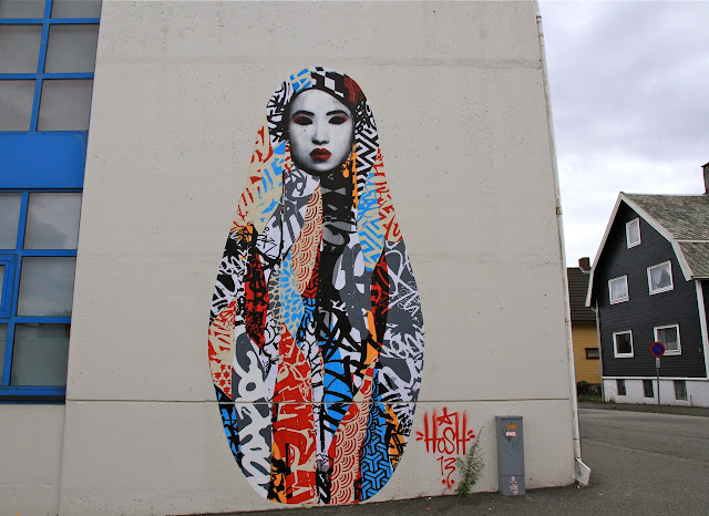 Street Art By Hush In Stavanger Norway For Nuart Festival.