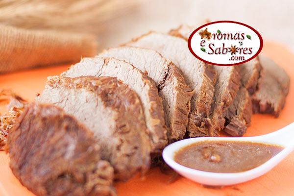 Carne assada simples