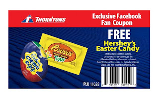 Free Hershey's Easter Candy at Thorntons