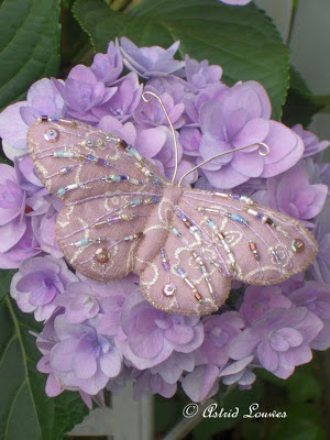 Vlinder van vilt