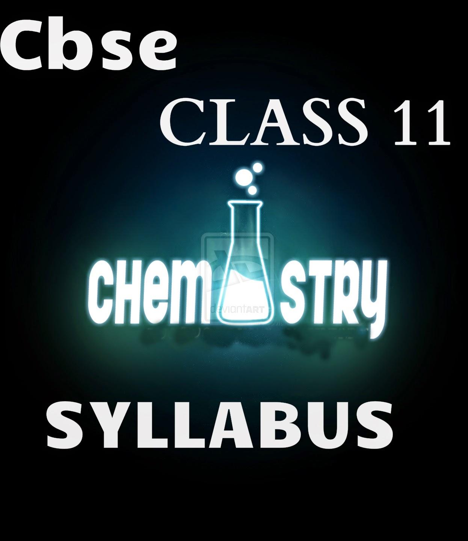 chemistry class-11 syllabus