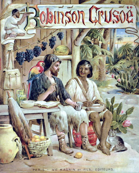 short on defoes robinson crusoe Robinson crusoe, as a young and impulsive wanderer, defied his parents and went to sea he was involved in a series of violent storms at sea and was warned by t.